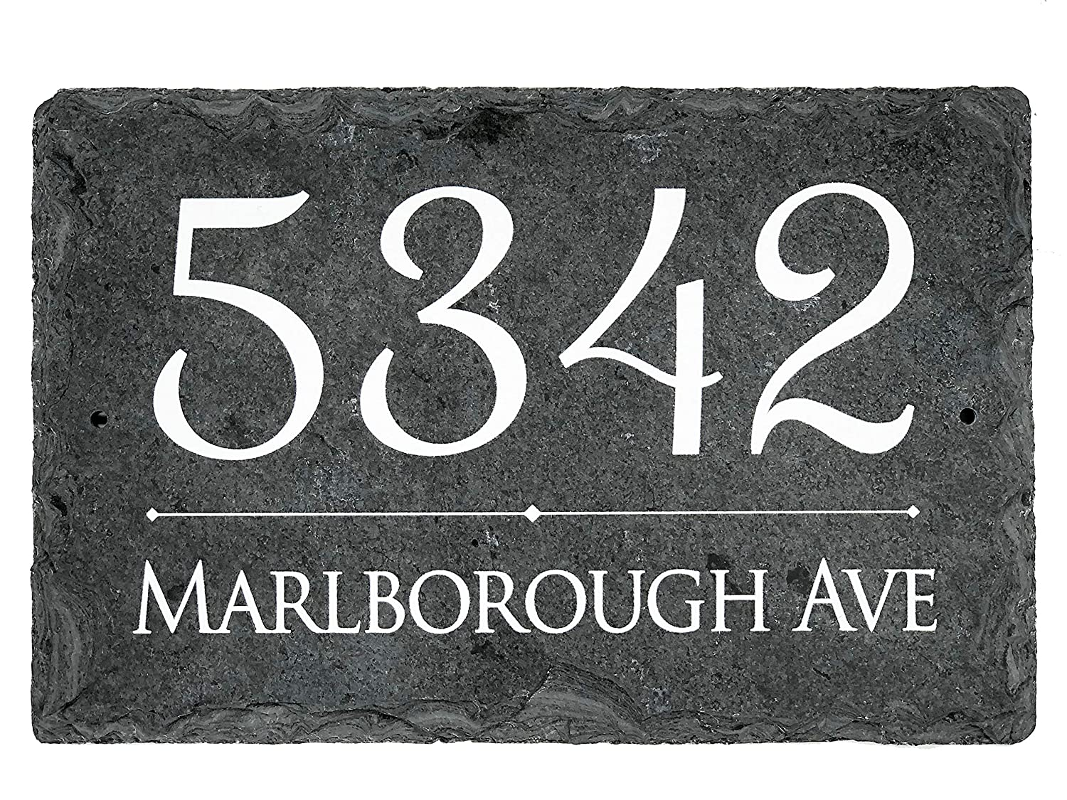Sassy Squirrel Beautifully Handcrafted and Customizable Slate Home Address Plaque Personalized House Sign with and mounting Hardware Improve The Curb Appeal of Your Property 16x10