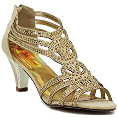 1f01d26d040 Enzo Romeo Kinmi25N Womens Open Toe Mid Heel Wedding Rhinestone Gladiator Sandal  Shoes - Casual Women s Shoes