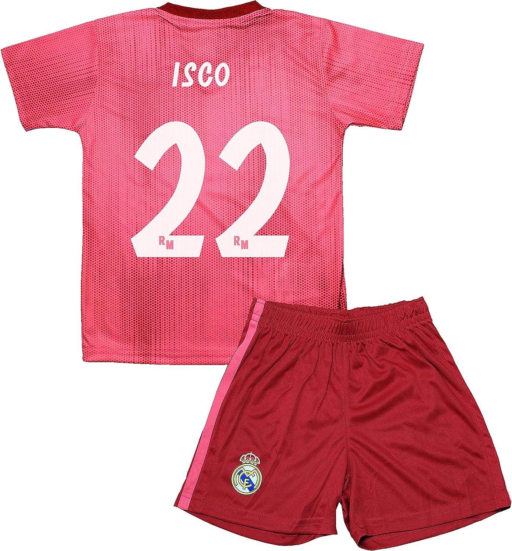 Real Madrid Kit Tercera Equipación Infantil ISCO Producto Oficial Licenciado Temporada 2018-2019: Amazon.es: Deportes y aire libre