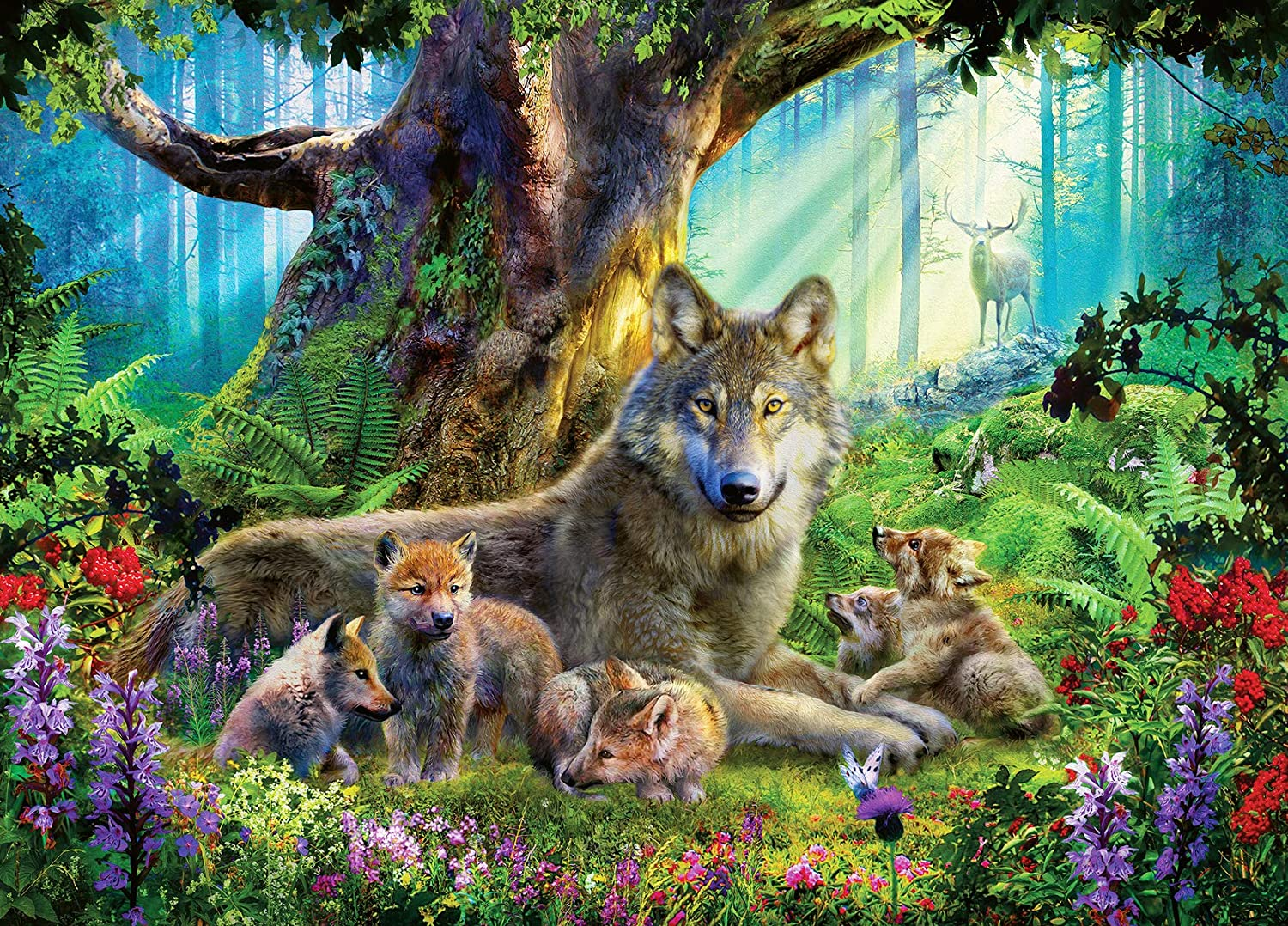 Ravensburger 15987 Wolves in The Forest 1000 Piece Puzzle for Adults - Every Piece is Unique, Softclick Technology Means Pieces Fit Together Perfectly