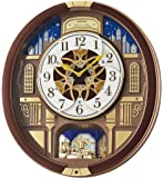 Seiko ' Melodies in Motion-Wall' Wood Clock, Color:Brown (Model: QXM362BRH)