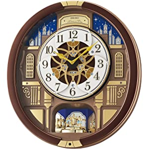 Seiko Melodies in Motion-Wall Wood Clock, Color:Brown (Model