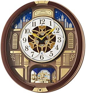 Seiko U0027Melodies In Motionu0027 Wood Wall Clock, Color:Brown (Model: