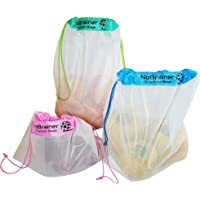 Mesh Produce Bags Reusable Washable for Shopping Fruit and Vegetables Environmentally Friendly 8 Pieces in 3 Convenient Sizes per Pack - Queensland Business