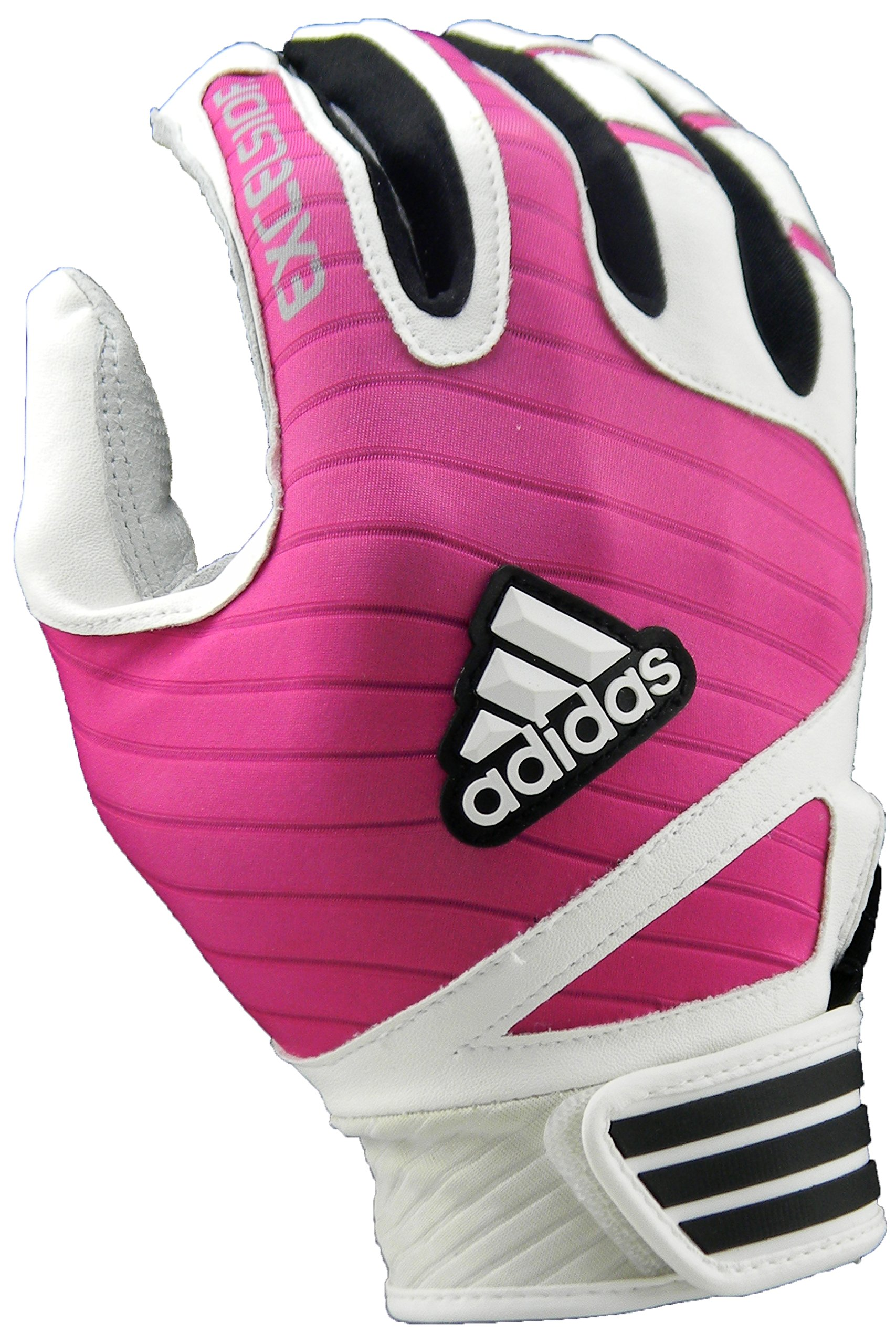 adidas Excelsior Batting Gloves (Pair), White/Pink, Small