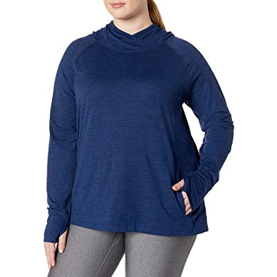 Amazon Essentials Women's Plus Size Brushed Tech Stretch Popover Hood: Clothing