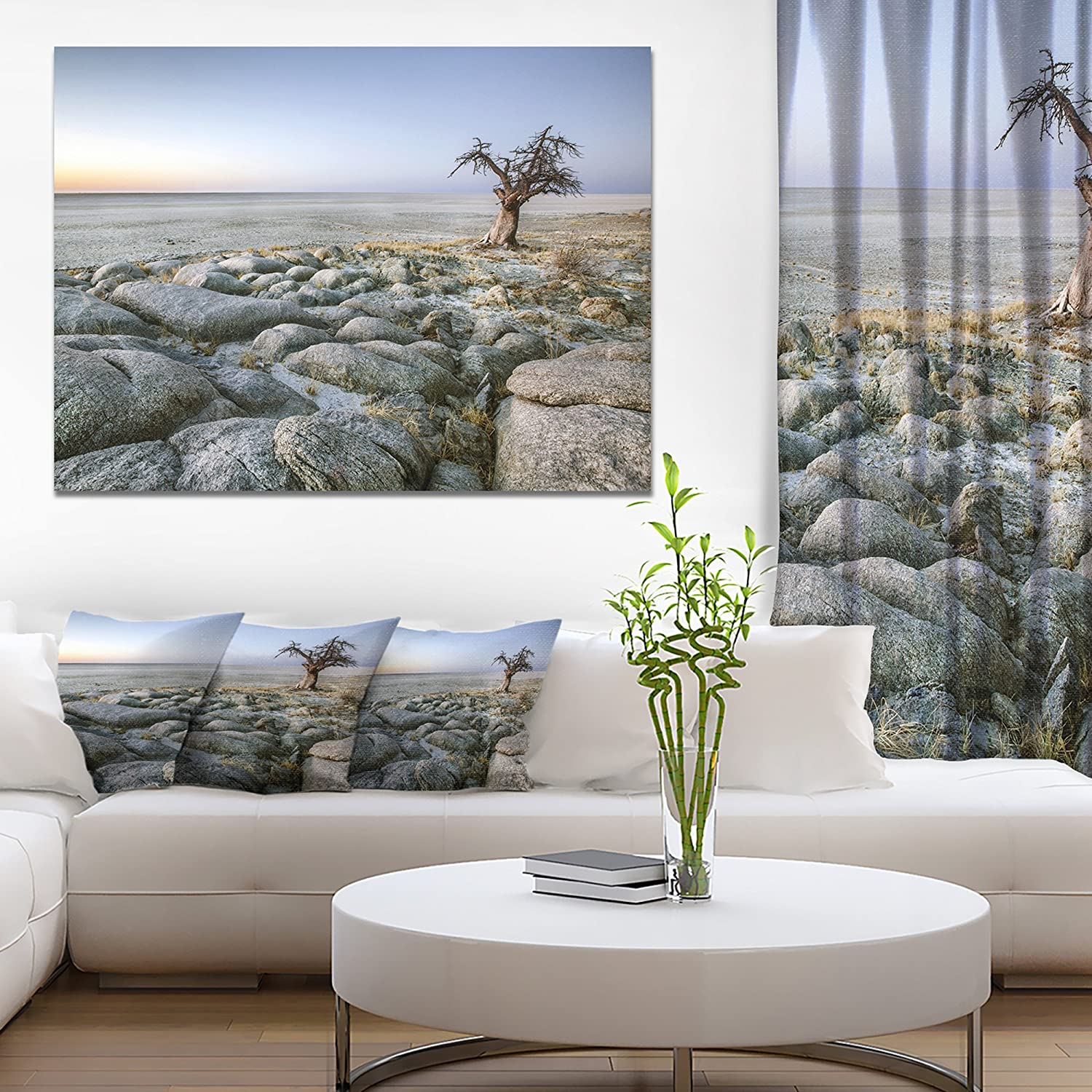 Baobab Tree On Rocky Terrain Large Landscape Canvas Art Amazon In Home Kitchen
