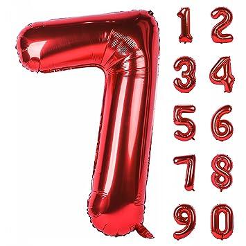 Globo de helio con números grandes de 40 pulgadas, color ...