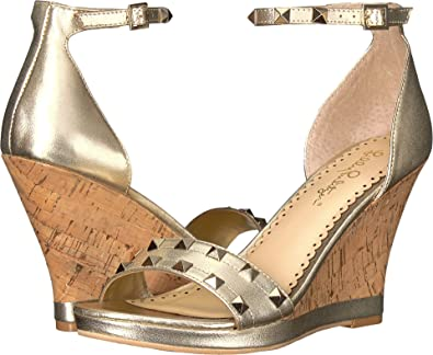 ba3717198a0 Lilly Pulitzer Women s Sydney Wedge Gold Metallic 8.5 ...