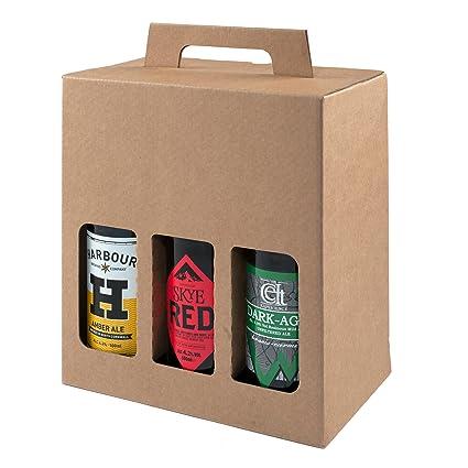 Botella de cerveza y sidra, caja de cartón resistente para 6 botellas de 500 ml