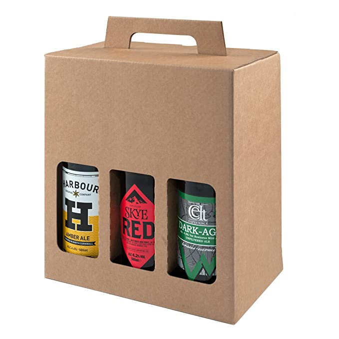 Botella de cerveza y sidra, caja de cartón resistente para 6 ...