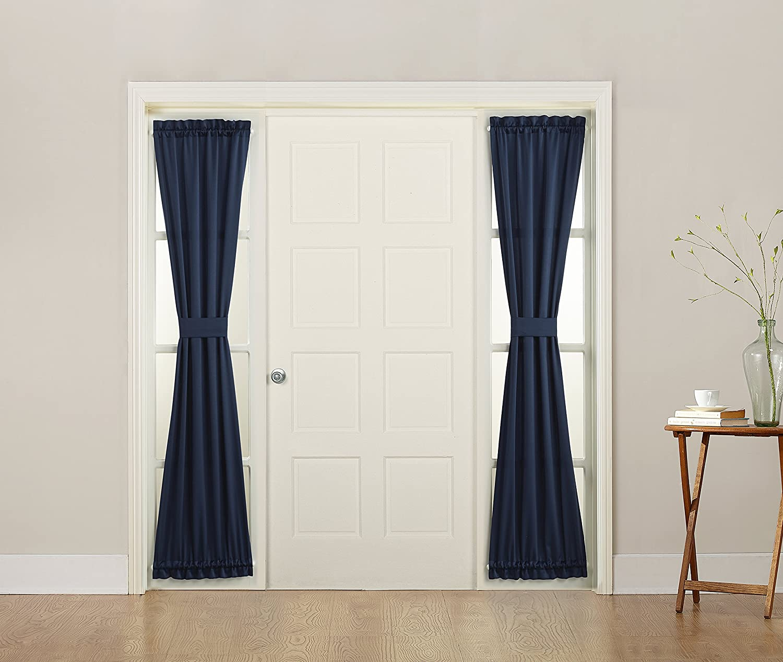 Amazon.com: Sun Zero Barrow Front Door Sidelight Curtain Panel ...