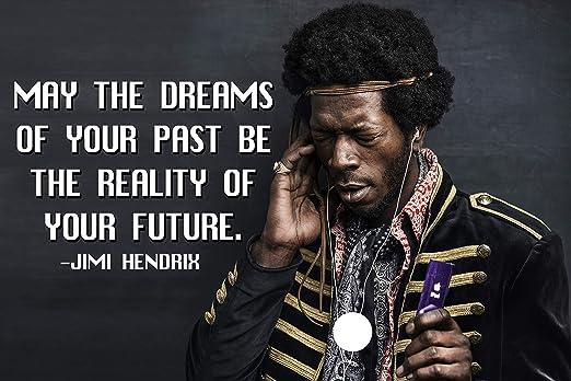 Amazon.com: Jimi Hendrix Quote Poster Black History Month ...