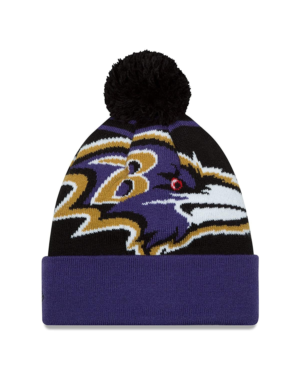 Amazon.com   New Era NFL Baltimore Ravens Logo Whiz Pom Beanie c083852a53e