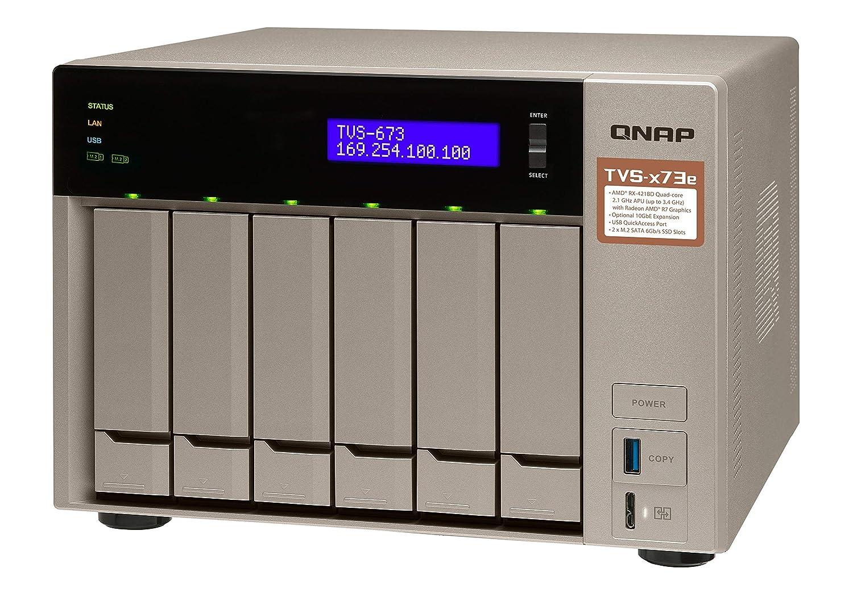 QNAP TVS-673e-4G/6TB-RED 6 Bay NAS - Unidad Raid