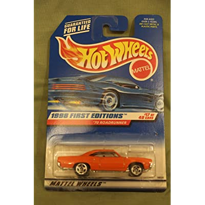 Hot Wheels Mattel 1998 First Editions 1:64 Scale Orange 1970 Roadrunner Die Cast Car #017: Toys & Games