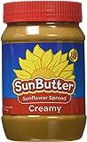 Sunbutter Sunflower Spread - Creamy 16 oz (454 grams) Jar