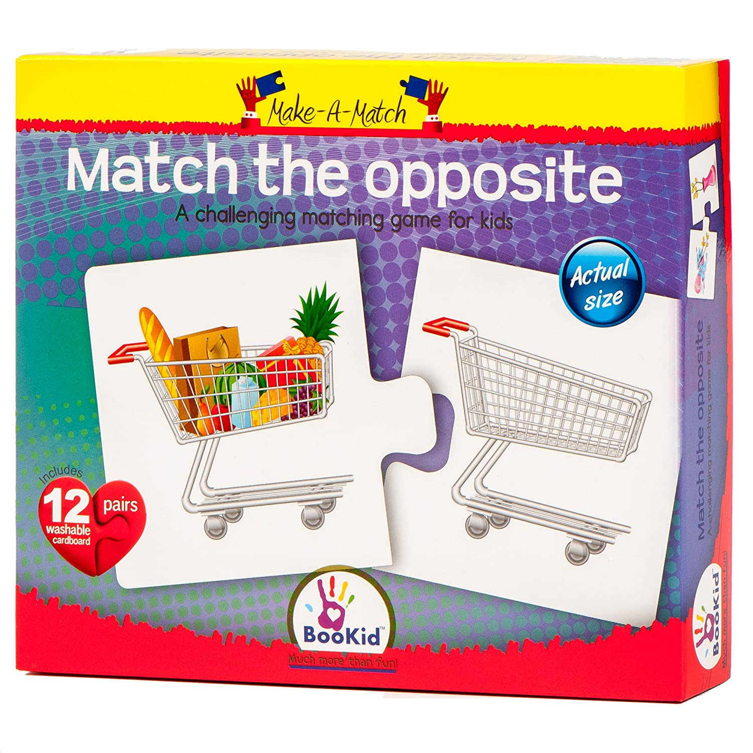 Bookid Toys Make A Match Puzzles 2 Parts Opposite