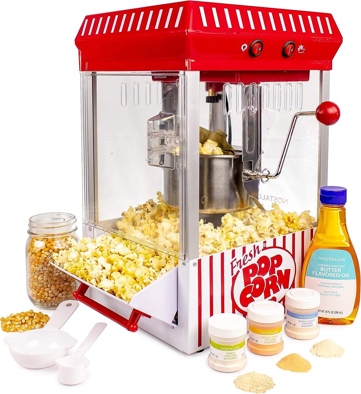 Nostalgia KPM200BUN 2.5-Ounce Kettle Popcorn Maker - Bonus Bundle