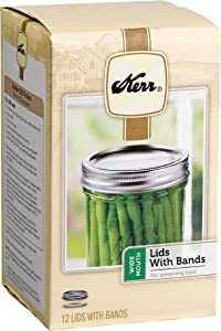 Kerr Wide 12-Pack 12 Count Mouth Lids and Bands