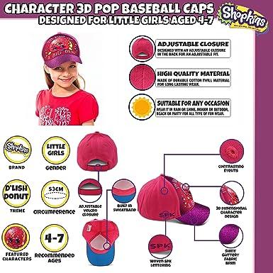 official photos cccdb dd12f ... new style amazon shopkins little girls dlish donut character 3d pop  baseball cap pink purple age