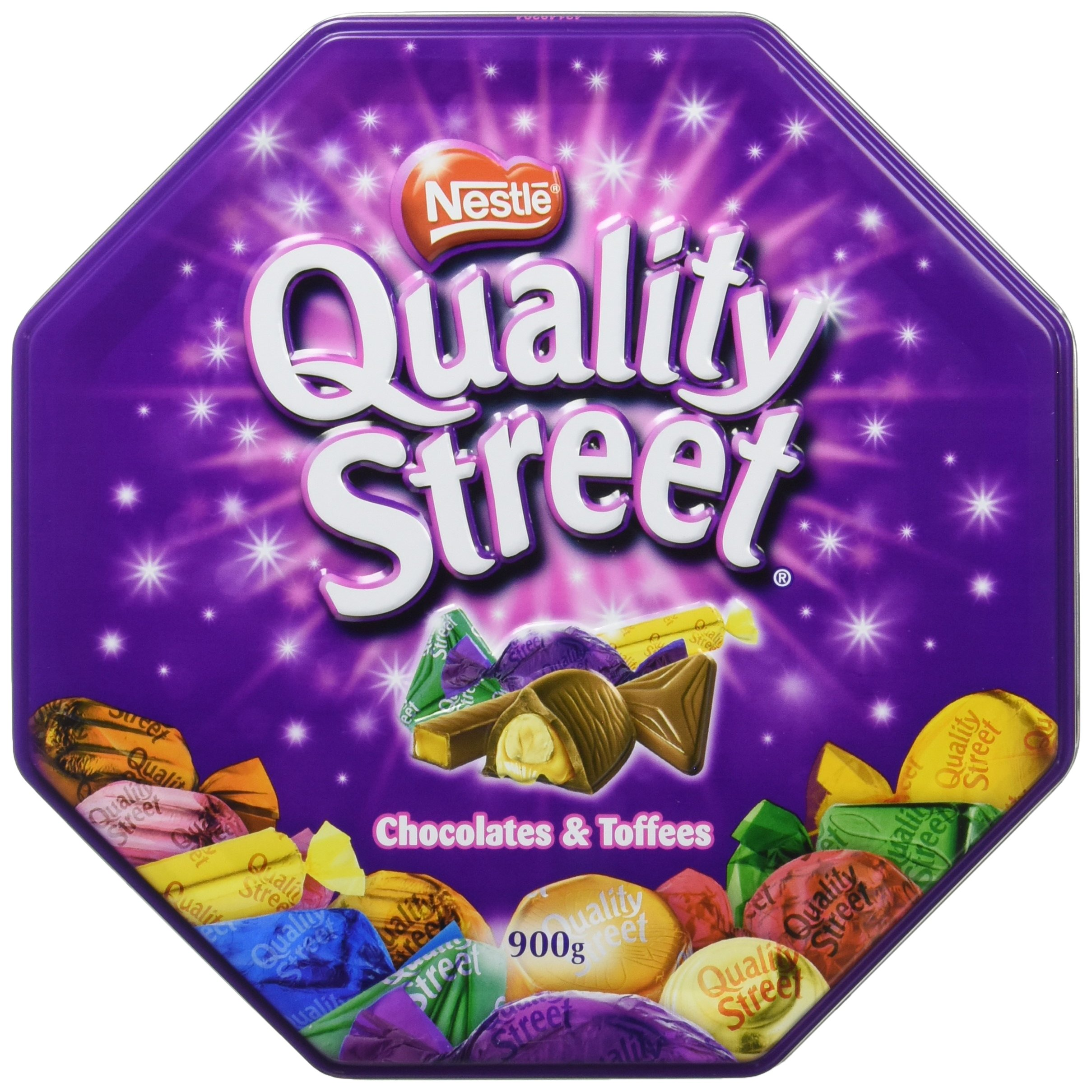 Nestle Quality Street Chocolates, Chocolate Assortment Filled Tin (900g)