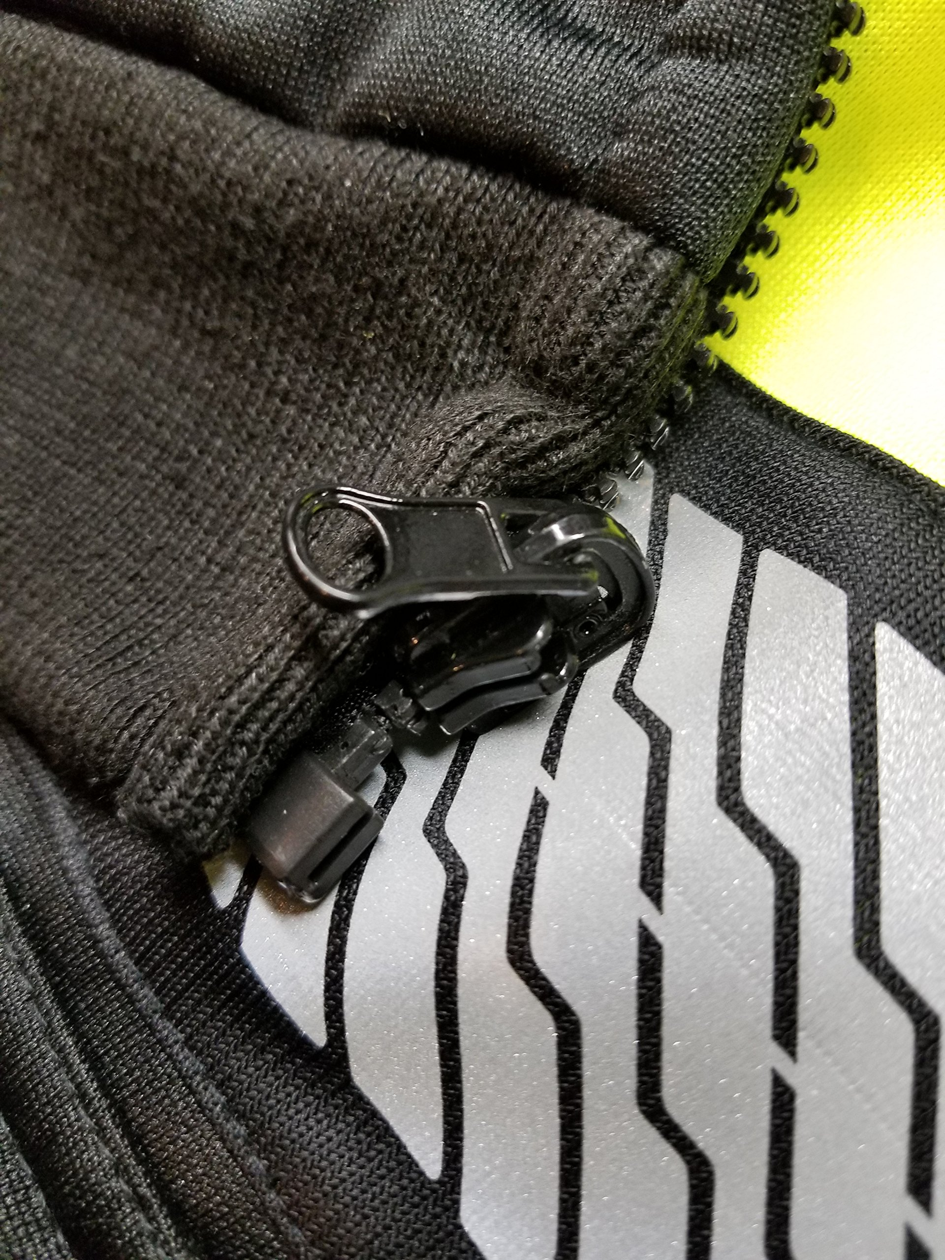 High Vis Lime Green and black Class 3 Heavyweight Premium ONYX Hoodie Sweatshirt with black trim and reflective tape (XXL) by GSS SAFETY (Image #4)
