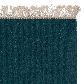 URBANARA Teppich QuotManuquot 100 Woll Baumwoll Mischung Wohnzimmer