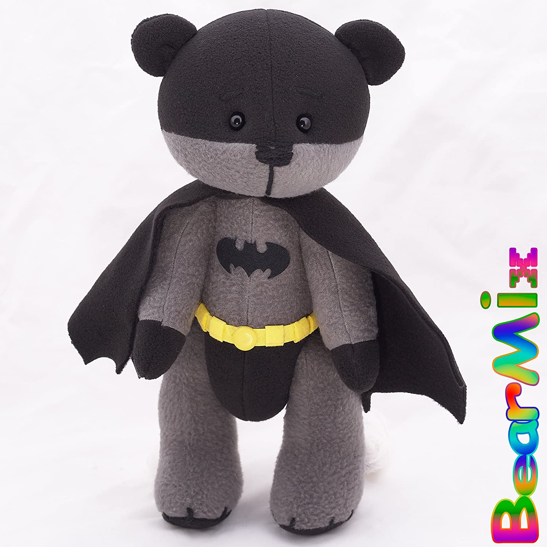 Batman bear - dc superhero movie comic plush toy justice league bruce wayne