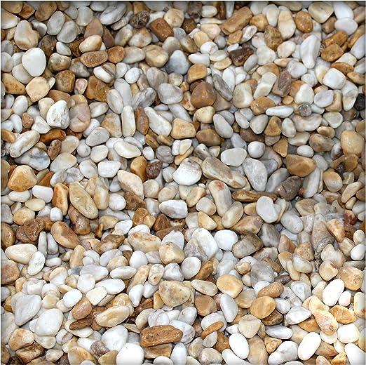 5 kg, mármol de piedras decorativas 7/25 mm mármol Grava Grava decorativa PU de resina revestido Siena Amarillo: Amazon.es: Jardín