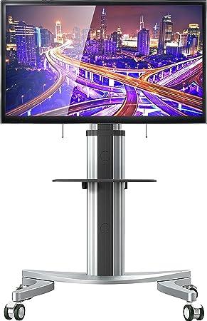 onkron Soporte para TV a suelo para LCD LED Plasma Puerta TV universal con ruedas soporte para TV Mobile soporte TV: Amazon.es: Electrónica