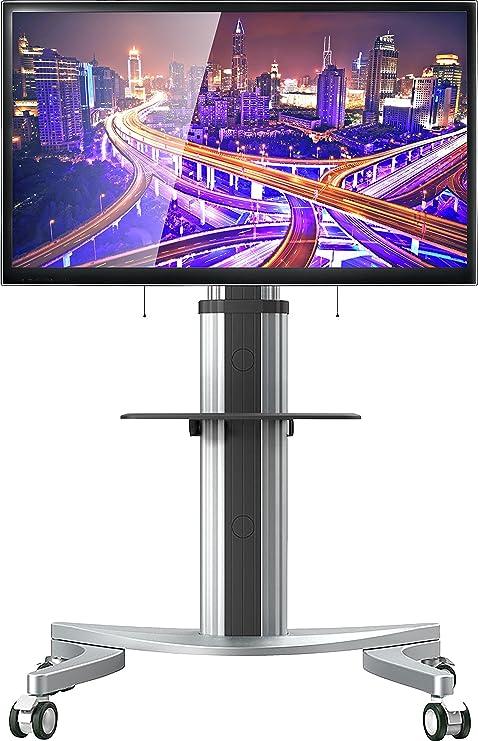 onkron Soporte para TV a suelo para LCD LED Plasma Puerta TV universal con ruedas soporte