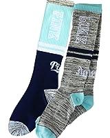 Victoria's Secret PINK Knee High Sock 2 Pairs Seafoam/Grey Marl