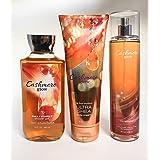 Bath and Body Works Cashmere Glow Shower Gel 10 Oz, Fine Fragrance Mist,& Ultra Shea Body Cream 8.0 oz