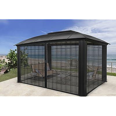 STC GZ3DXLS 12 x 16 ft. Siena XL Hard-Top Dome Gazebo with Protective Screen : Garden & Outdoor
