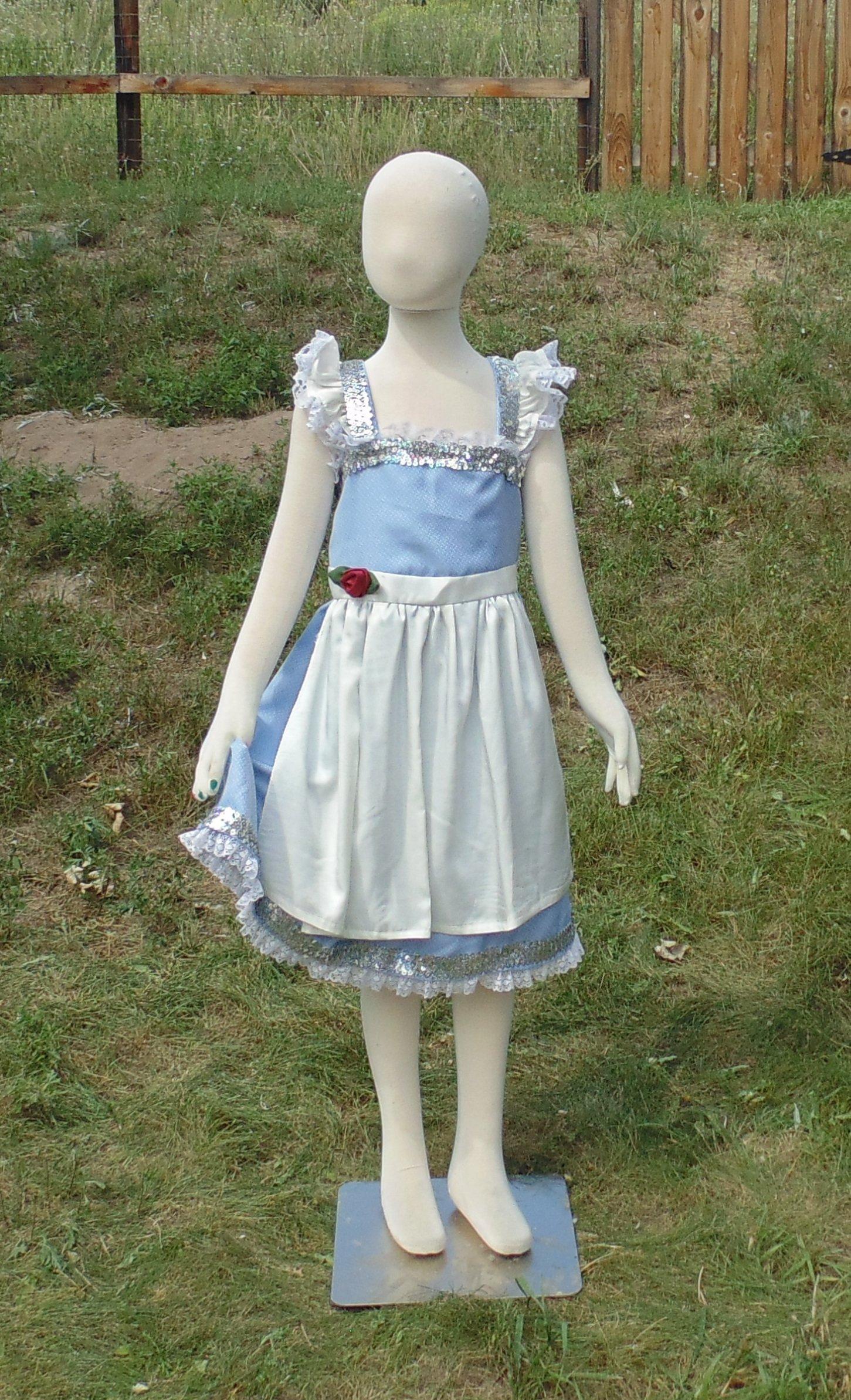 Girls 6-8 Peasant Belle dress up apron