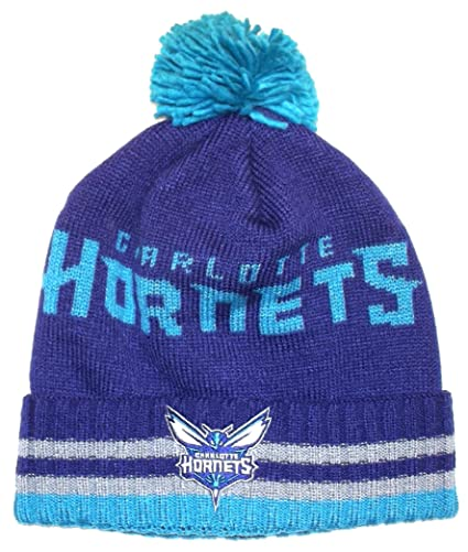 2f8df851c52 Amazon.com   adidas Charlotte Hornets Bold Wordmark Striped Cuff Pom ...