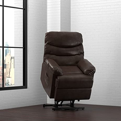 ProLounger Power Recliner and Lift Wall Hugger Chair in Brown Renu Leather & Amazon.com: ProLounger Power Recliner and Lift Wall Hugger Chair ... islam-shia.org