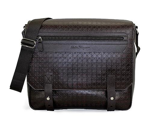 4ed9f52bca92 Salvatore Ferragamo Gamma Calfskin Leather Messenger Bag