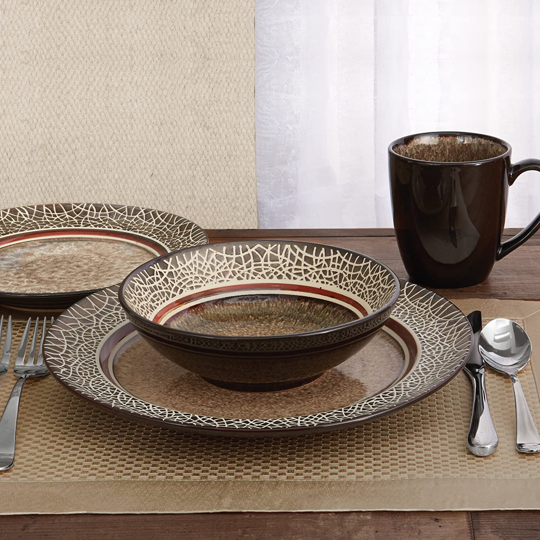 Dinnerware Set Dishes Dinner Stoneware Kitchen Plates Bowls Mugs Set For 4 16pcs & Dinnerware Set Dishes Dinner Stoneware Kitchen Plates Bowls Mugs Set ...