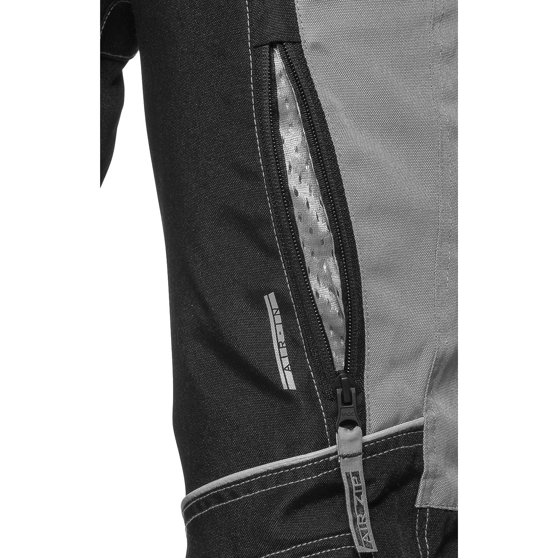 DXR Motorradhose 122-164 2 Einschub- Taschen f/ür Knie- und H/üftprotektoren Protektoren nachr/üstbar Verbindungsrei/ßverschluss Motorradschutzhose Kinder Sommer Textilhose 2 Ges/ä/ßtaschen Grau