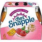 Diet Snapple Raspberry Tea, 16 fl oz glass bottles, 6 pack
