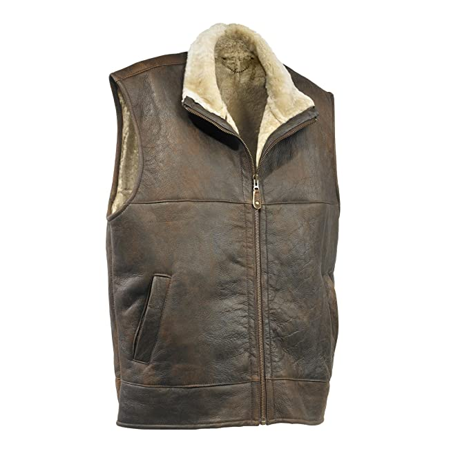 Eastern Counties Leather Mens Harvey Sheepskin Gilet: Amazon.ca: Clothing &  Accessories