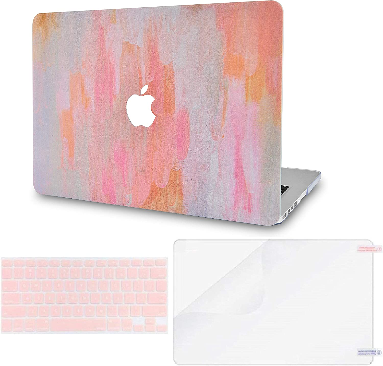 LuvCase 3 in 1 LaptopCase for MacBook Air 13 Inch(Touch ID) (2018-2020) A1932 Retina Display HardShellCover, Keyboard Cover & Screen Protector (Mist 13)