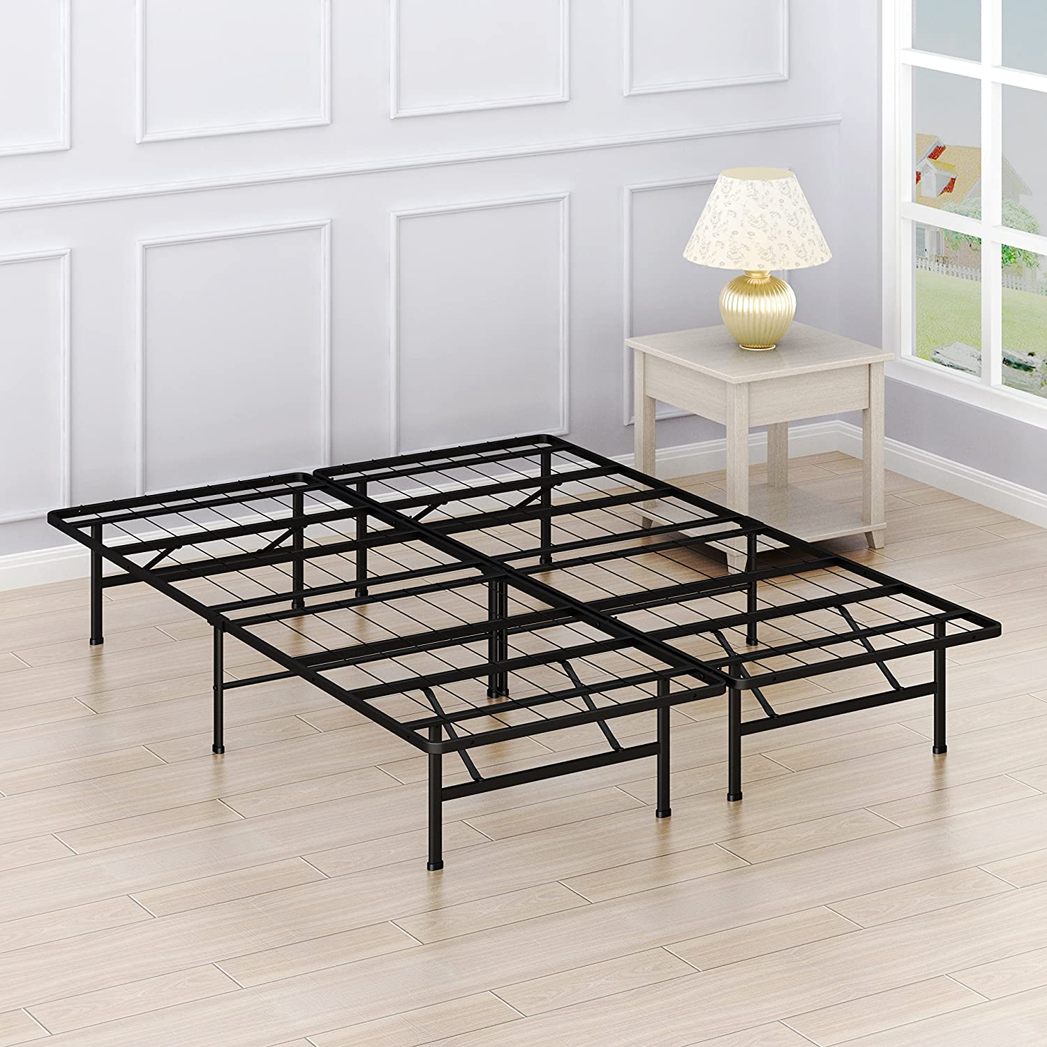 Simple Houseware 14-Inch Queen Size Mattress Foundation Platform Bed Frame
