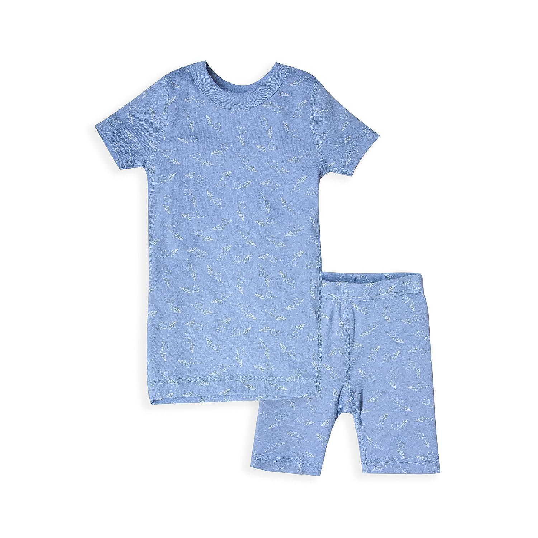 Skylar Luna Boys Short Sleeve Stripe and Print Pajama Set 100/% Organic Cotton Shirt 65517-SS-BIG