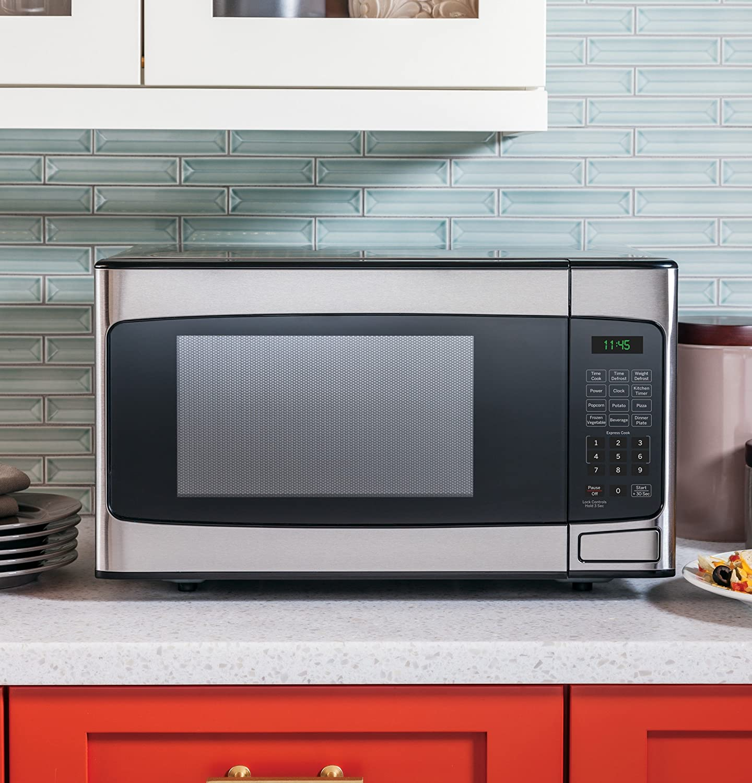 Amazon.com: GE JES1145SHSS 1.1 Cu. Ft. Capacity Countertop Microwave ...