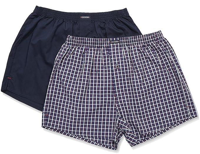 Ceceba Web-Shorts 2er Pack-Calzoncillos para Hombre Azul BLU (Navy-Tango