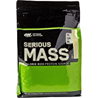 Optimum Nutrition Serious Mass Weight Gainer Whey Protein Powder with Vitamins, Creatine and Glutamine. Protein Shakes by ON - Vanilla, 16 Servings, 5.45kg