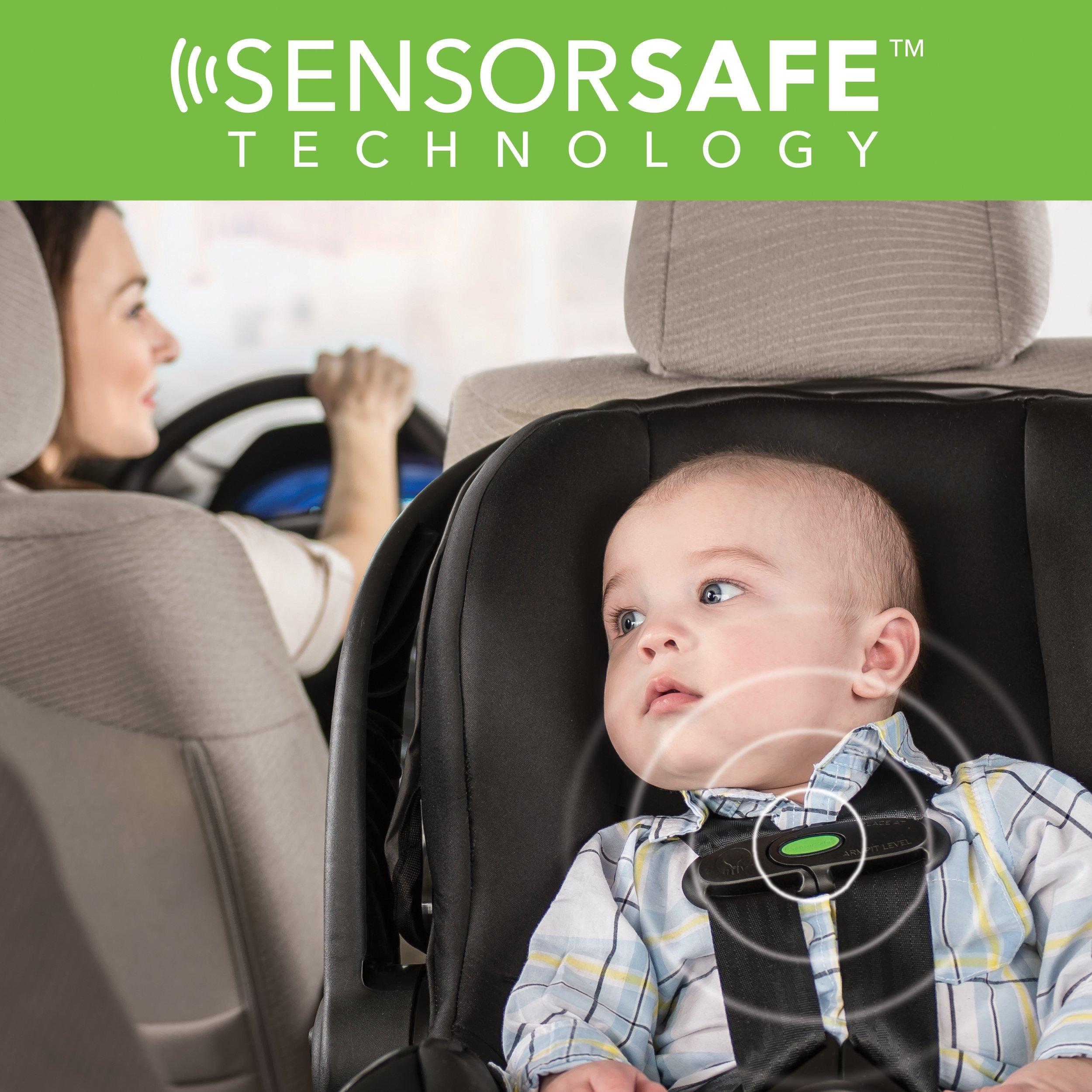 Evenflo Advanced SensorSafe Epic Travel System with LiteMax Infant Car Seat, Jet by Evenflo (Image #3)